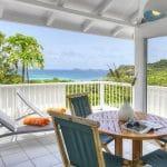 terrasse et vue du cottage standard terrasse - hotel saint barth Le Village