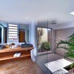 salle de bain de la suite junior - hotel saint barth Le Village